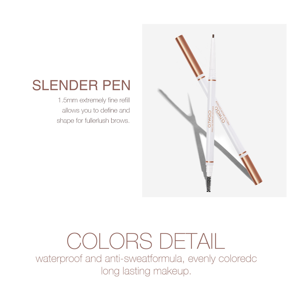 O.TWO.O Eyebrow Pencil Waterproof Natural Long Lasting Ultra Fine 1.5mm Eye Brow Tint Cosmetics Brown Color Brows Make Up 3