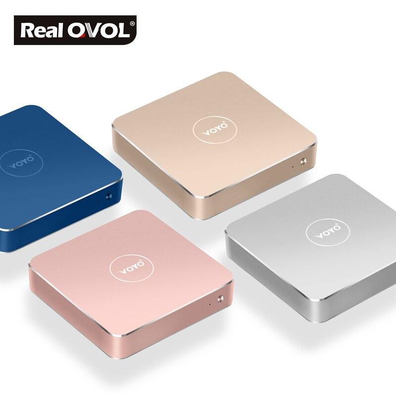 VOYO vmac Мини-ПК V1 лицензии Оконные рамы 10 Pocket PC 3 * USB3.0 4 К выход HD Intel озеро Аполлон N3450 ...