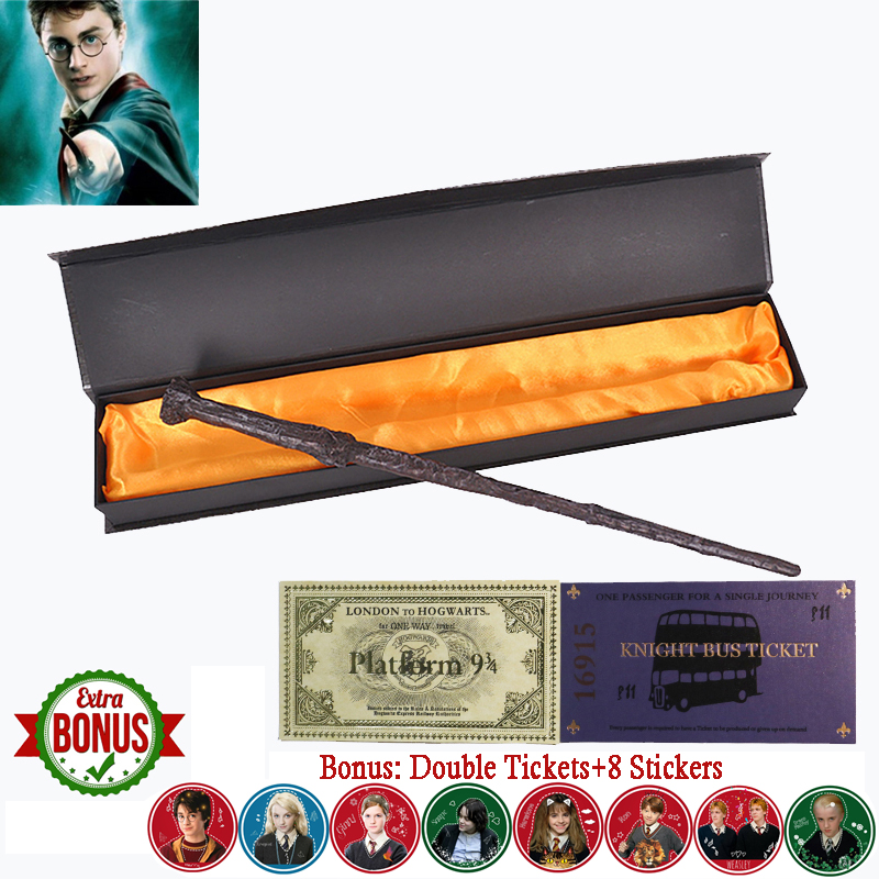 22 Kinds Of Harry Series Magic Wand With Box Voldemort Ron Hermione Dumbledore Luna Magic Wand Knight Bus Hogwart Train Ticket