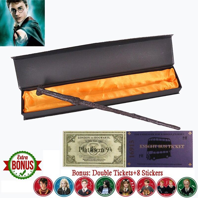 Nouvelle série Harry baguette magique avec boîte Voldemort Ron Hermione Dumbledore Luna Snape Malfoy Bellatrix McGonagall baguette magique