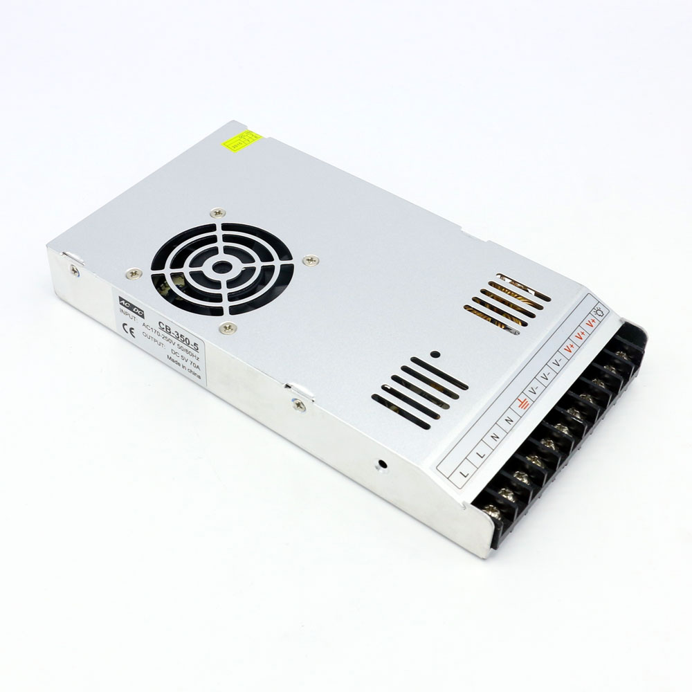 Single Output Switching Power Supply 5V 70A 350W Transformer 220V Ac to Dc Slim SMPS for Electronics Led Display 145w 15v single output switching power supply for fsdy ac to dc