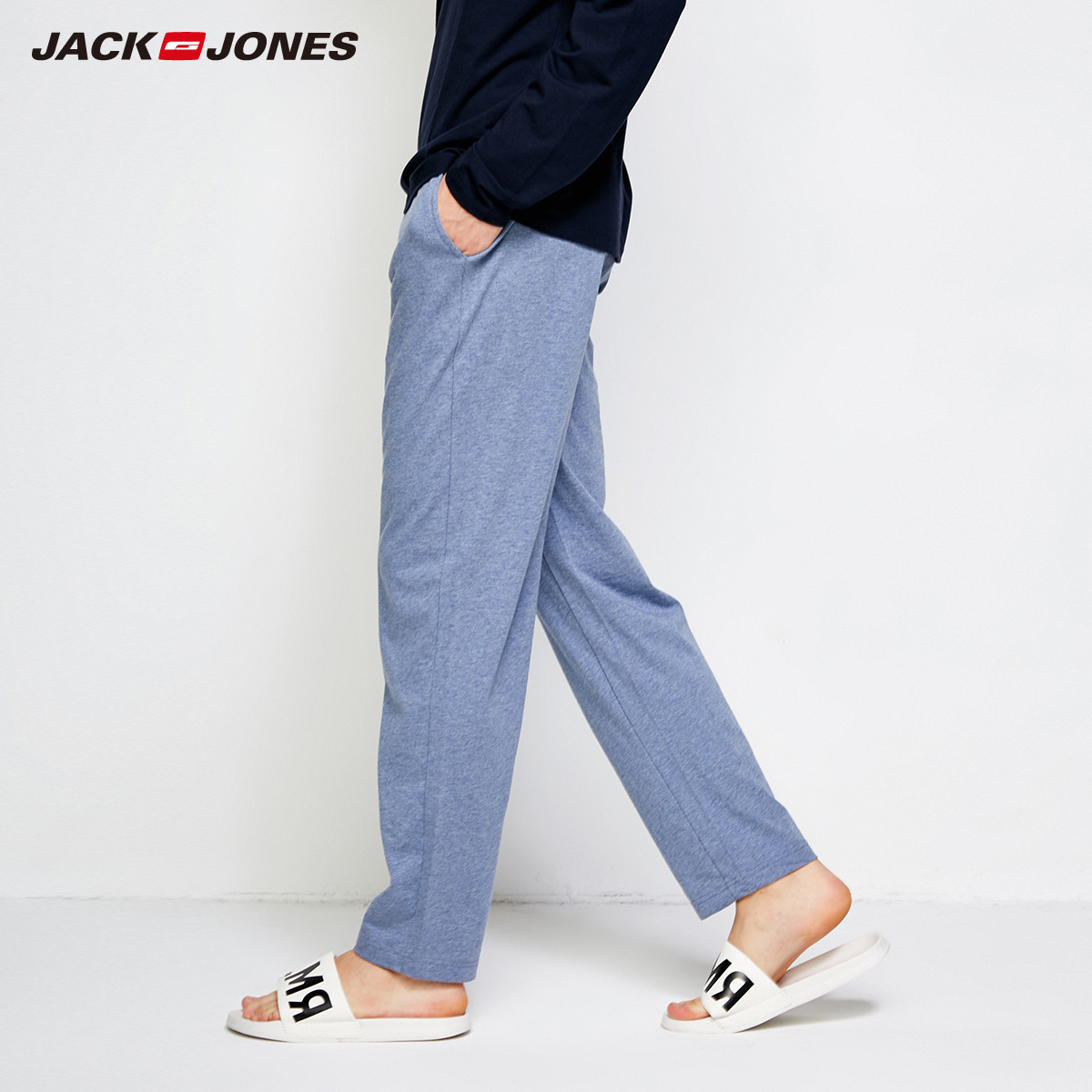 Jack Jones Spring Summer New Men's 100% Cotton Sweatpants Men Trousers Track Pants | 2183HC503
