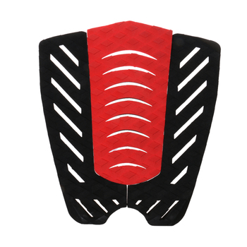 3Pcs Tail Traction Grip Pads Men Women Surfing Accessories for Surfboard Shortboard Longboard 31 x 30cm Black/Red