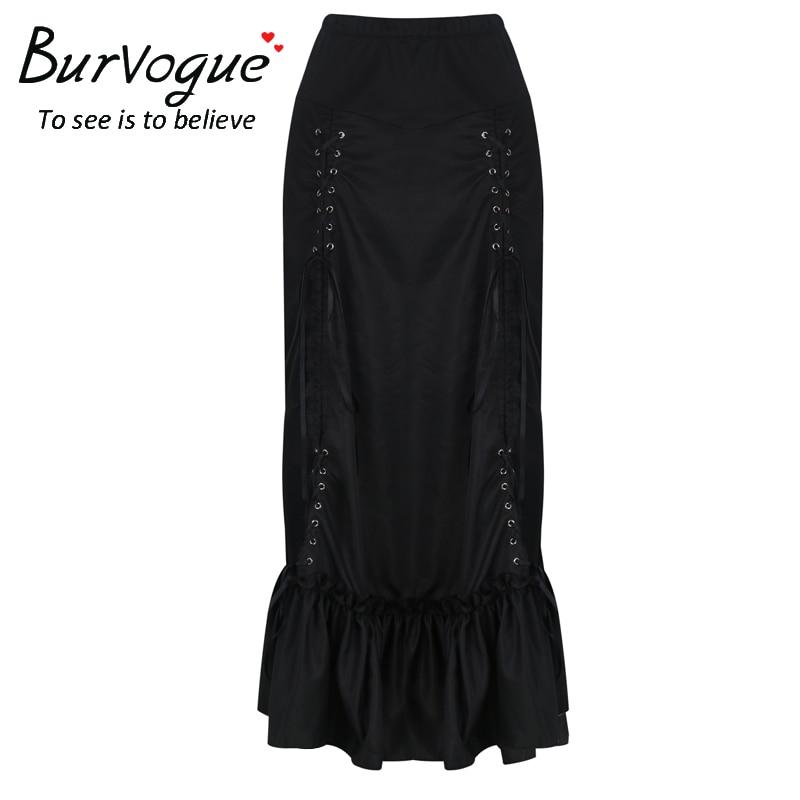 Aliexpress.com : Buy Burvogue Plus Size Skirt Steampunk High Waist ...