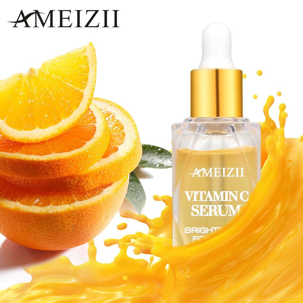 AMEIZII Vitamin C Whitening Serum Hyaluronic Acid Brighten Firming Anti-Aging Moisturizing Speckle Fade Dark Spots Skin Care