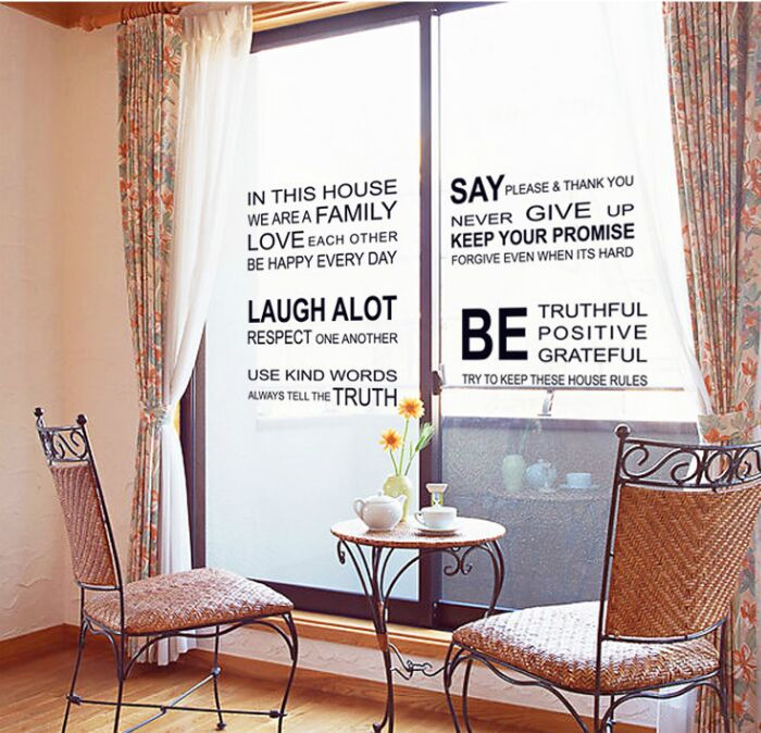 Motivation Wall Decals Office Home Bedroom Decor The home of lovedream Big Inspirational Quote Wall Stickers
