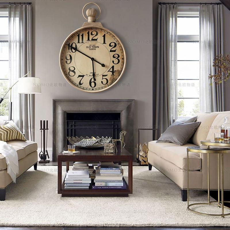 American retro vintage tieyi finishing clocks french