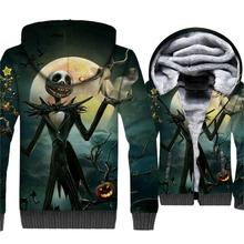 Halloween Pumpkin King Jack Skull Print 3D Hoodies Men 2019 Winter Warm Men's Jackets Fleece Sweatshirts Plus Size Coat For Fans майка print bar jack skull