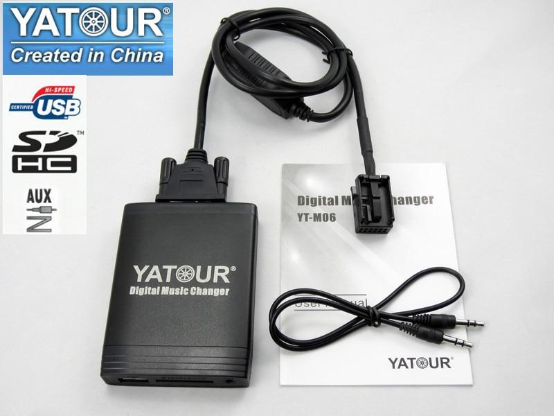 Yatour pour Peugeot 307 407 807 C4 C5 USB MP3 Bluetooth Radio Adaptateur de Musique Numérique Changeur YT-M06 AUX Citroen C2 c3 C4 C5 C8