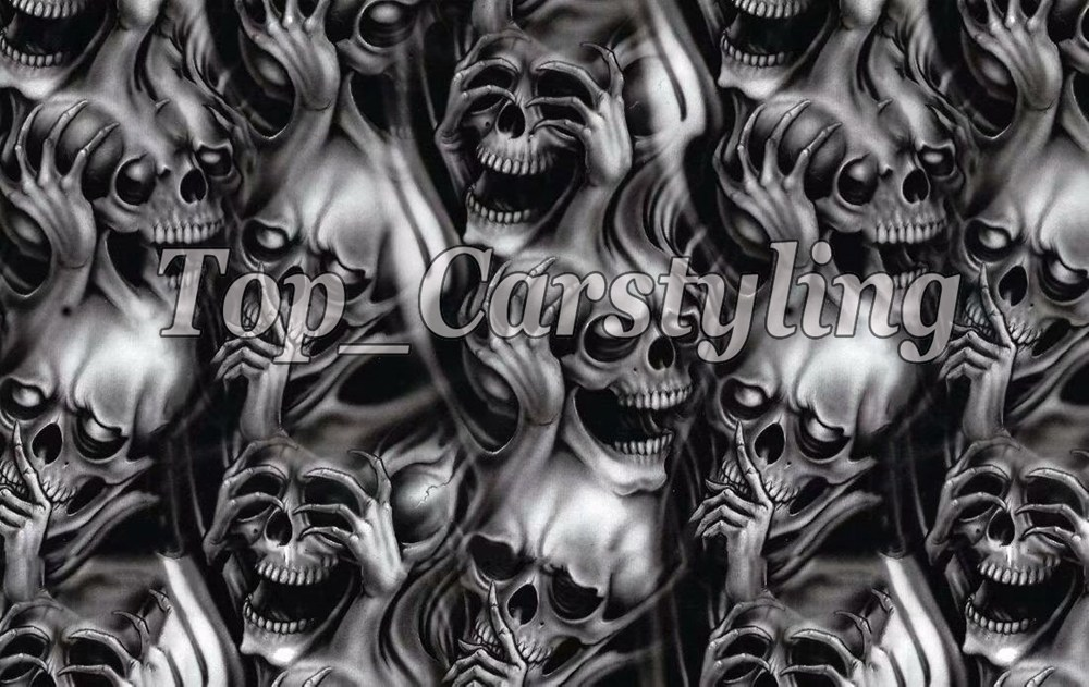 SKULL Print sticke bomb Camouflage Vinyl For Car wrap Camo Car STYLING Film Motorcycle Vehicle Wraps coating 1.52X10M/20M/ 30M car styling realtree camo wrapping vinyl car wrapping realtree camouflage printed for motorcycle bike truck vehicle covers wraps