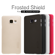 Nillkin Frosted Shield Cell Phone Case For Samsung Galaxy A3 2016/A3 6/A310/A310F/A3100 Back Cover Case Free Screen Protector