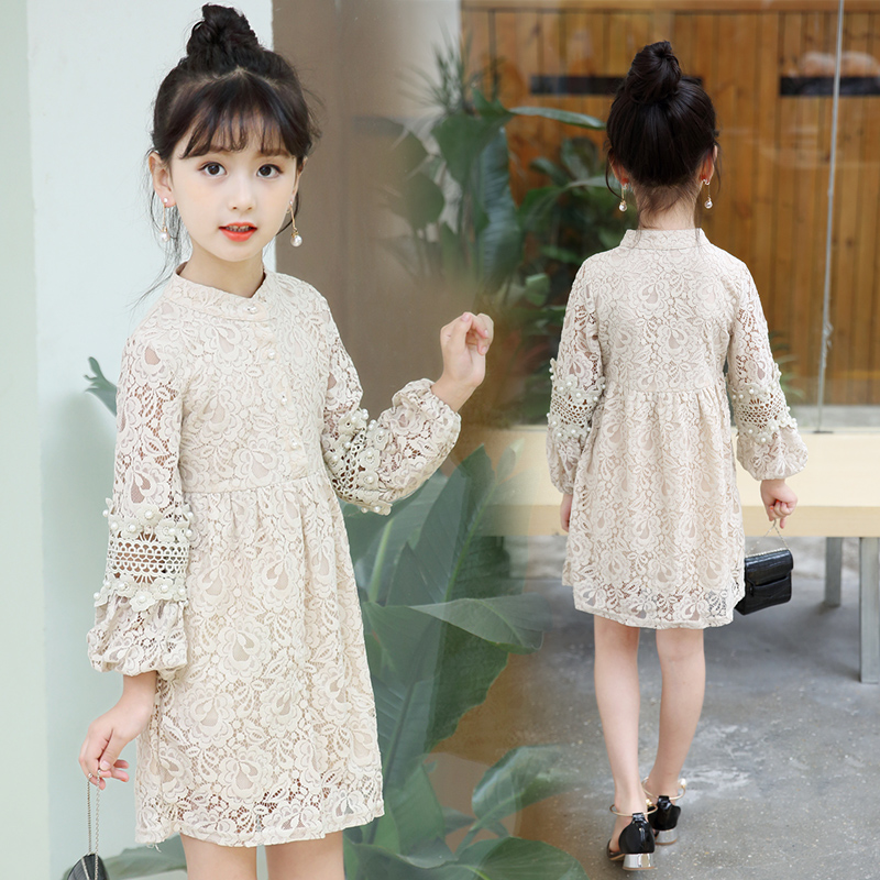 58d2649c4 2018 Fall Teenage Girls Lace Dress Princess Tulle Dresses Kids Vintage  Style Dress Children Boutique Costume Birthday Gift 13 14-in Dresses from  Mother ...