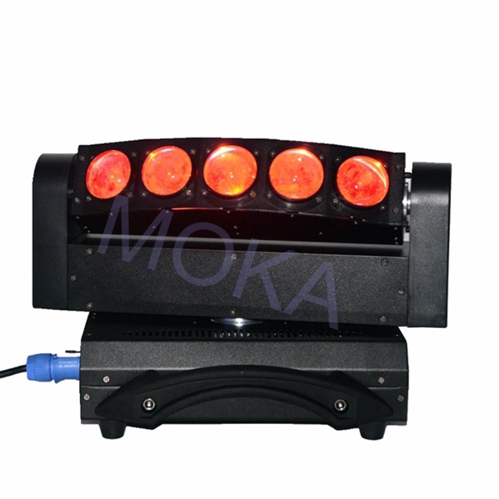 Luz de haz de MOKA de 5 cabezales de luz LED de 5X10 W DMX 4IN1 RGBW Luz de barra de discoteca de escenario en movimiento 3 clavija XLR enchufes TV LIVE SHOW proyector - 6