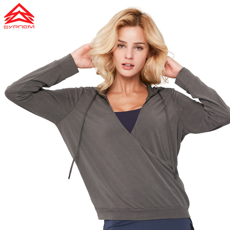 SYPREM running Shirts modal breathable quick drying fitness running long sleeve hoodie t shirt brand women shirts woman YT181004 in Running T Shirts from Sports Entertainment