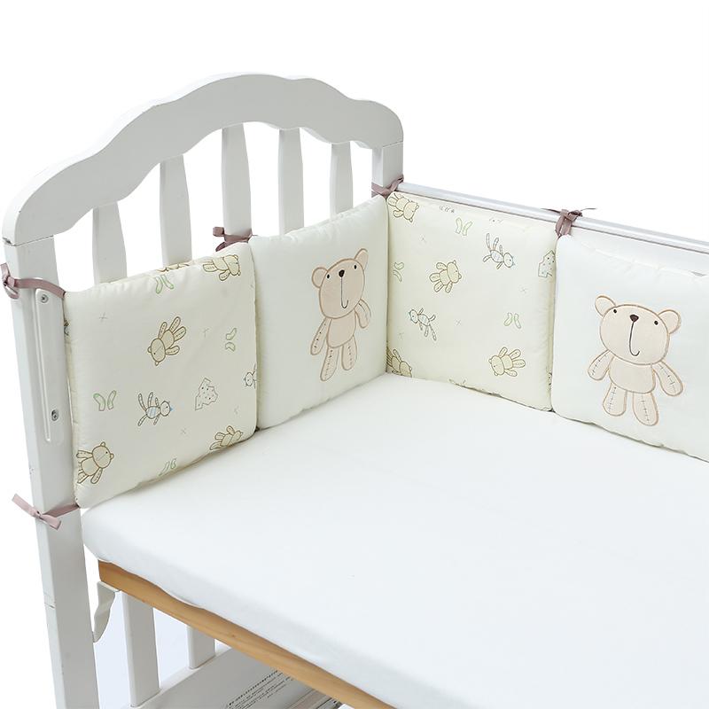 algodn beb bumpers babymio en la cuna beb cama parachoques protector de cuna proteccin beb