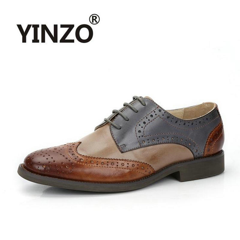 2018 New brand british style Color matching genuine leather sheepskin women s Oxford shoes vintage brockden