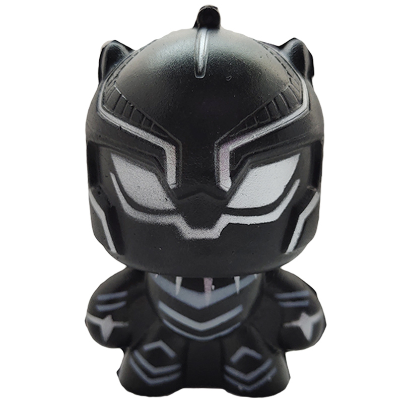Kawaii Marvel Black Panther Squishies Simulation Soft Slow Rising Scented Phone Straps Stress Relief Squeeze Toy Kid Gift Toy