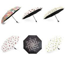 Горячая Распродажа Красочный мини складной зонт женский зонтик от дождя женский ветрозащитный Анти-УФ зонтик от солнца