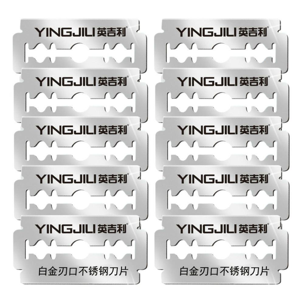 Platinum Level Double Edge Blade Safety Razor Blades US Razor Blade Refill, 10PCs(yingjili RD214)
