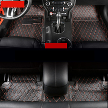 lsrtw2017 fiber leather car floor mats for ford mustang 2015 2016 2017 2018 2019 accessories