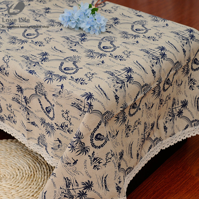 7 Sizes Tablecloths For Square Tables Dinning Table Cloth Beach Pattern  Table Cloths Manteles Toalha De