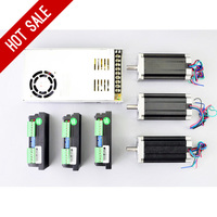 3 Axis CNC Kit 3Nm/425oz.in Nema 23 Stepper Motor & Driver CNC Mill Router Lathe