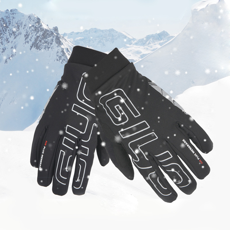 Giyo Riding Gloves Men Winter Thicken Windproof Full Finger Cycling Gloves Long Finger Touch Screen Mountain Biking Equipment