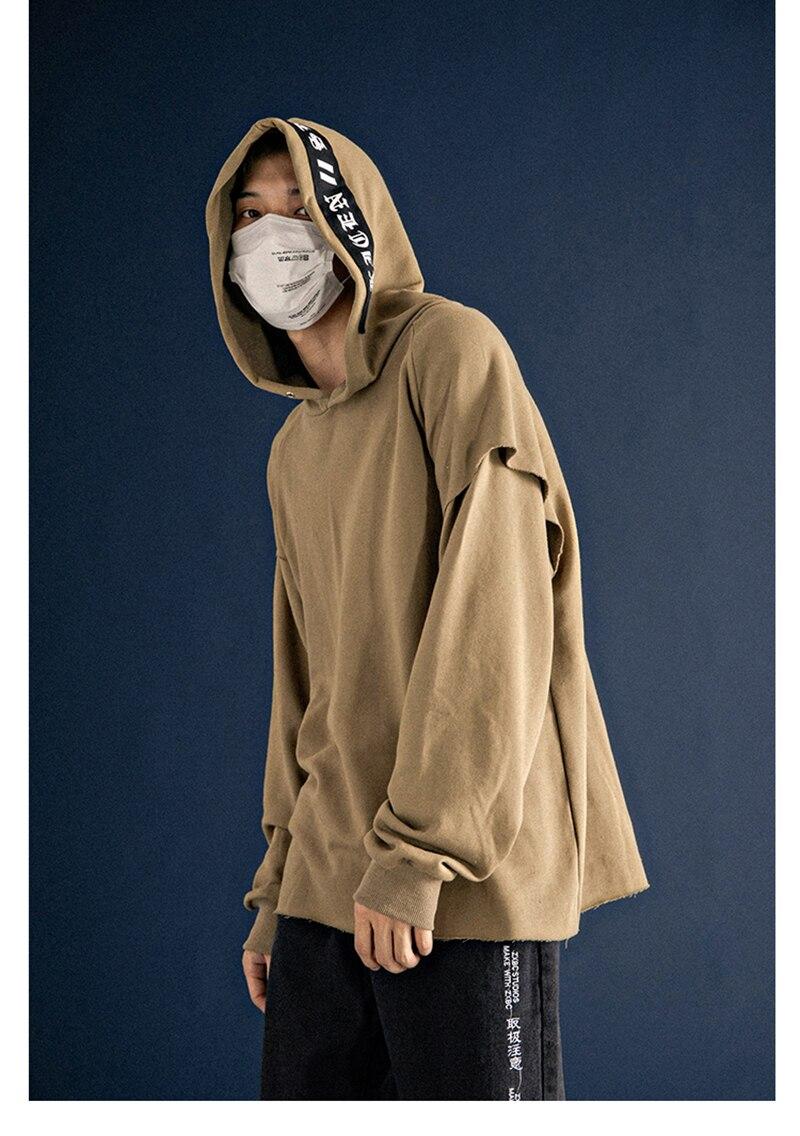 Long Sleeve Fleece Men Sweatshirts Plush Raglan Pullovers Hoodies Mens   (3)