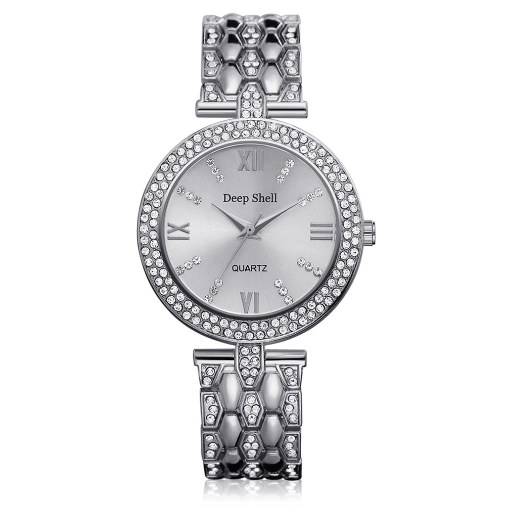 New Women Shiny Steel Belt Watch Ladies Delicate Number Diamond Wrist Watch Gift horloges vrouwen bayan saat