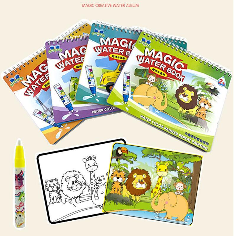 US $3.13 5% OFF Magic Water Drawing Book Coloring Book Doodle & Magic Pen  Painting Drawing Board For Kids Toys Birthday Gift-in Drawing Toys from  Toys ...