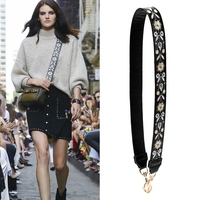 Leather embroidery Guitar Strap you the new package with wide shoulder straps, oblique ku ladies leather bag with wide