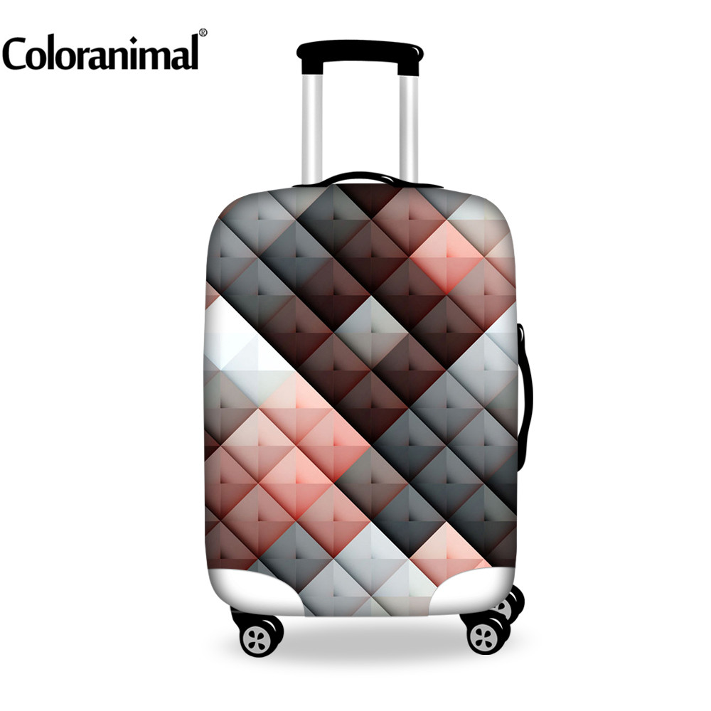 Coloranimal Fashion Luggage Elastic Protect Cover Travel Trolley Suitcase Thick Waterproof Case Cover With Zipper For 18-30 Inch