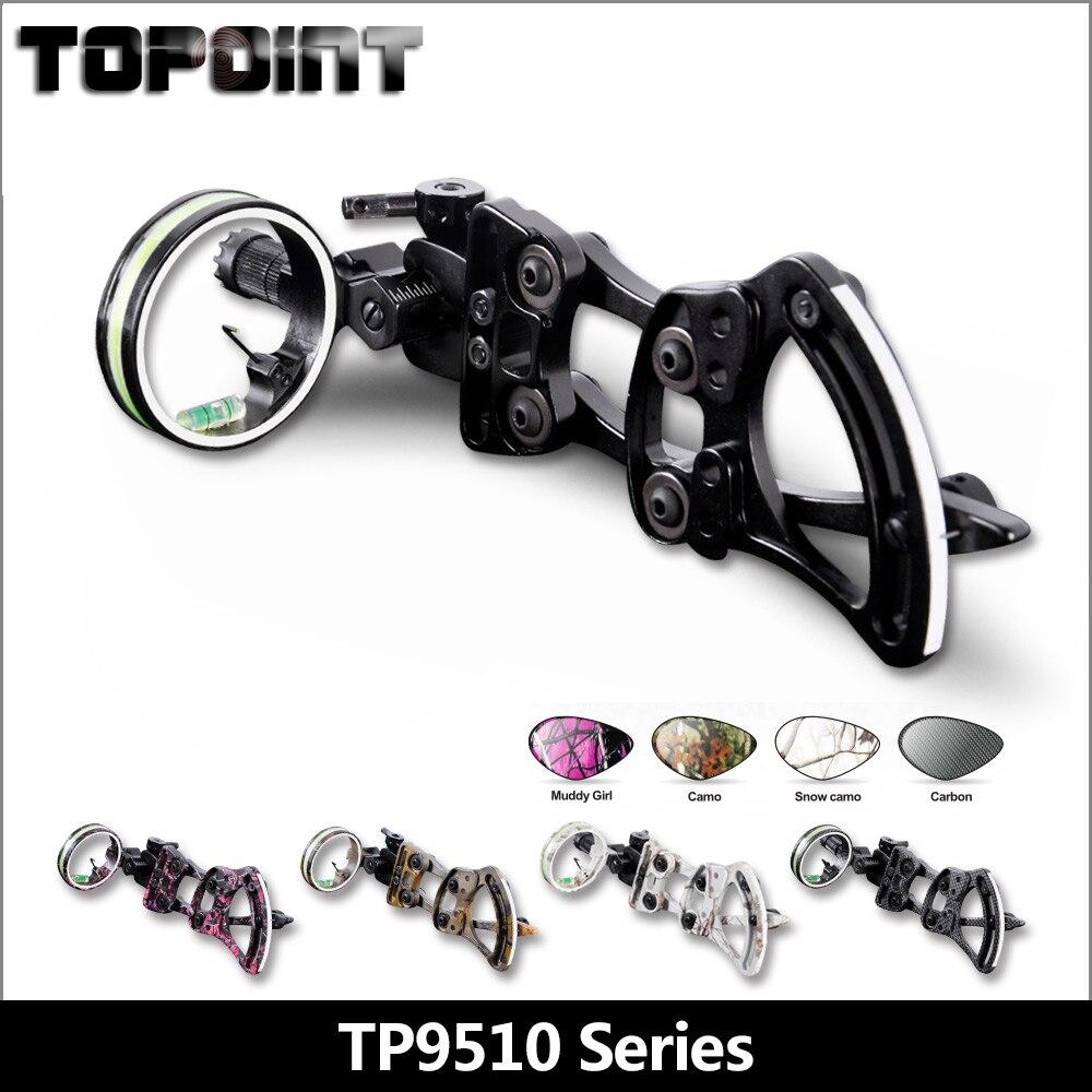 Accessoires de tir à l'arc et à la flèche TP9510 tir à l'arc professionnel 1 broche vue à l'arc Micro-réglage de la chasse