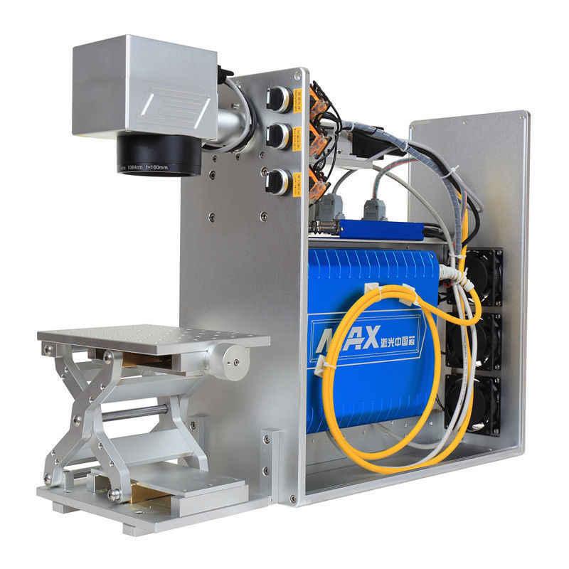 Máquina cortadora de Máquina de marcado láser de fibra 20 W/30 W/50 W, máquina láser de marcado Cnc, máquina de marcado de fibra láser, máquina impresora de marcado de Metal