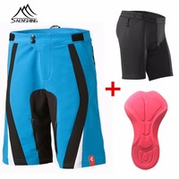 FREE SHIPPING 2014 New Blue Color Cube Shorts MTB Bicycle Motorcross Cycling Bike Moto Pant S