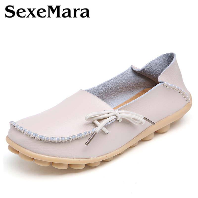 10 colors! Women Genuine leather mother shoes Moccasins womens soft Leisure flats female driving shoes loafers
