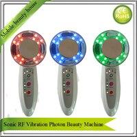 Xách tay Home Use Sonic Rung Siêu Âm RF EMS 7 Màu Led Light Photon Trẻ Hóa Nâng Da Mặt Cơ Thể Đẹp Massager