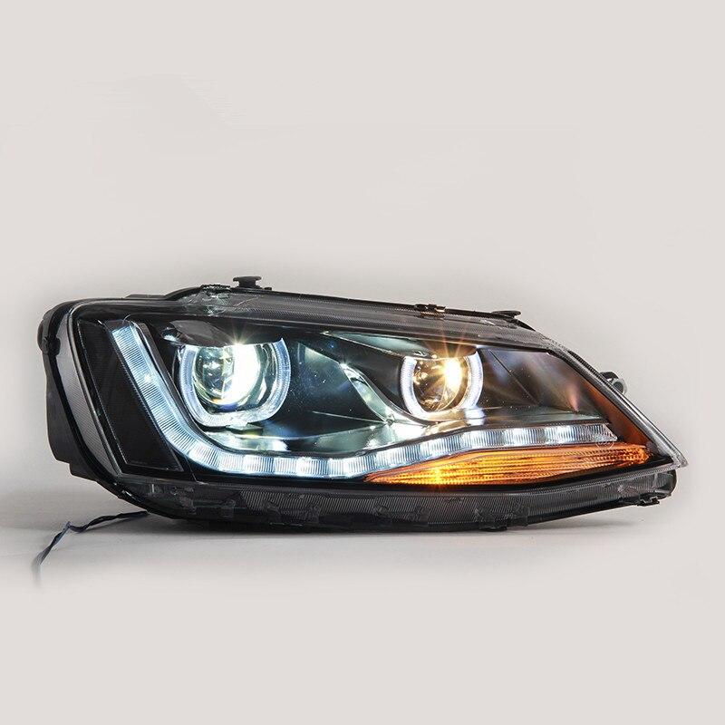 New Type Car Accessories new for Volkswagen Sagitar Head Lamp Headlight Modify Custom 2012-2017