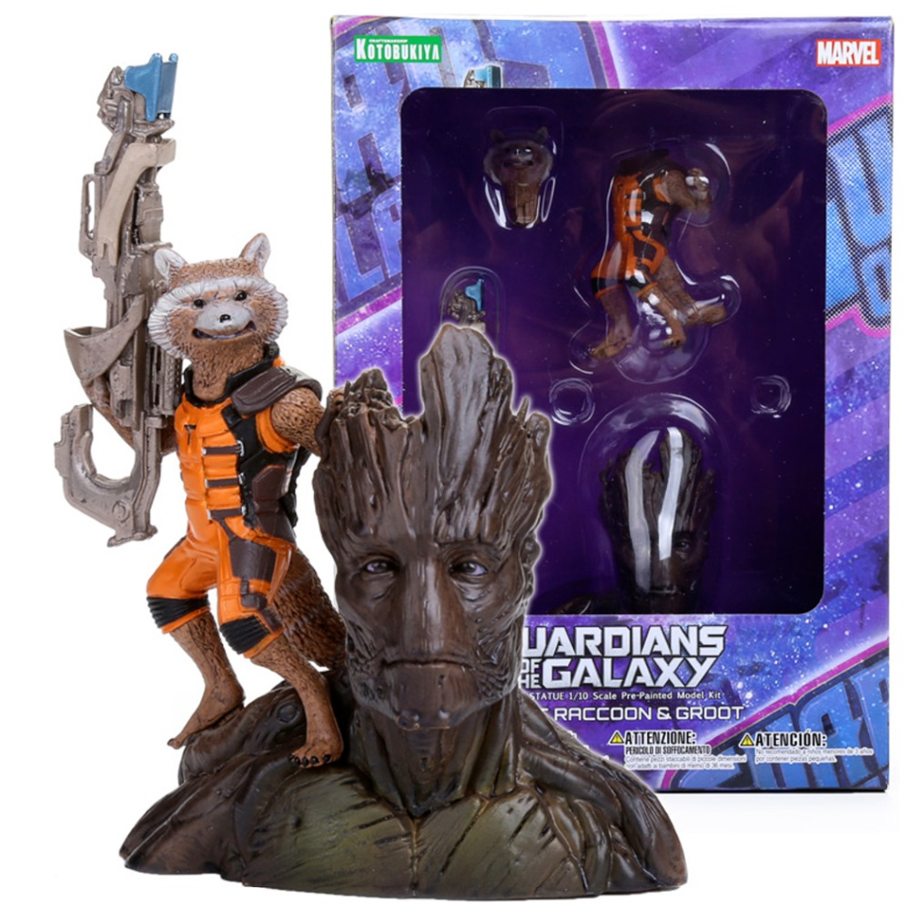 Crazy Toy Guardians Of The Galaxy Groot Rocket Raccoon 6.24 Action Figure Collection Model Toy Gifts vogue synthetic neat bang long natural straight offbeat black white highlight capless lolita style cosplay wig page 2