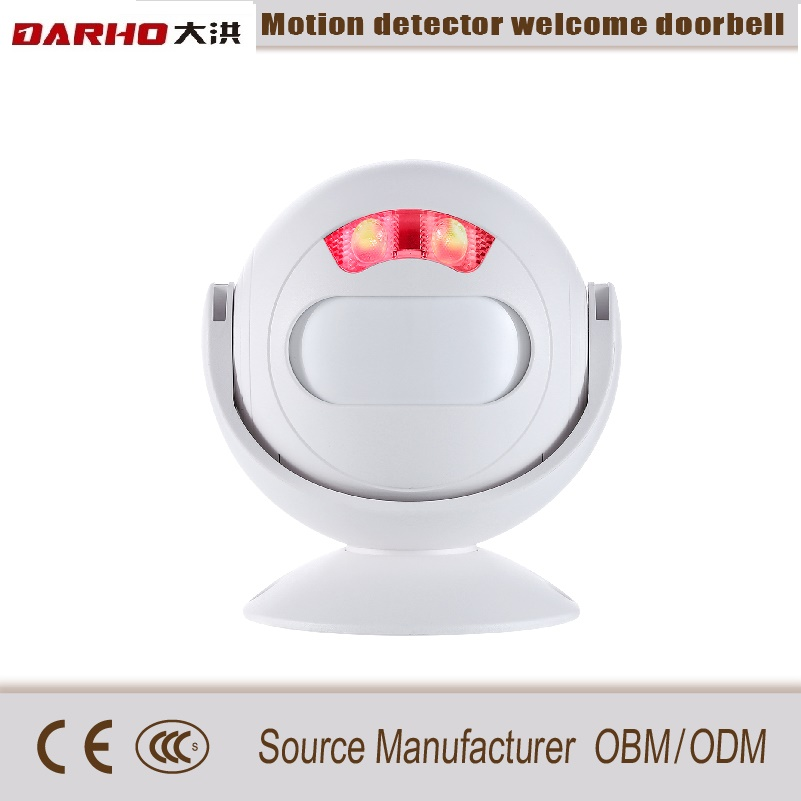 Darho large volume Multi-function Wireless Curtain PIR Motion Wireless Strobe Light Welcome Chime Doorbell Burglar Alarm SystemDarho large volume Multi-function Wireless Curtain PIR Motion Wireless Strobe Light Welcome Chime Doorbell Burglar Alarm System