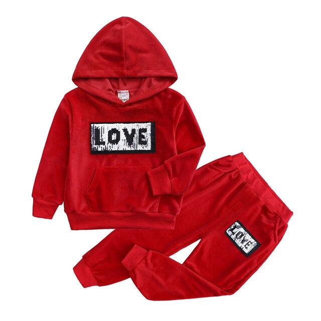 2020 Boys Clothes Sets Toddler Girls Clothes Autumn Kids Clothing Sets Sport Suit Cotton Letter Boys Outfits Suits For Children