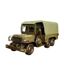 Simulation Alloy Military Truck Model Napkin Tray Home Table Decoration Figurine Metal Truck Model Desk Ornaments Army Fan Gifts gifts 1 43 ixo altaya krupp l2h134 military trucks truck model alloy model collection