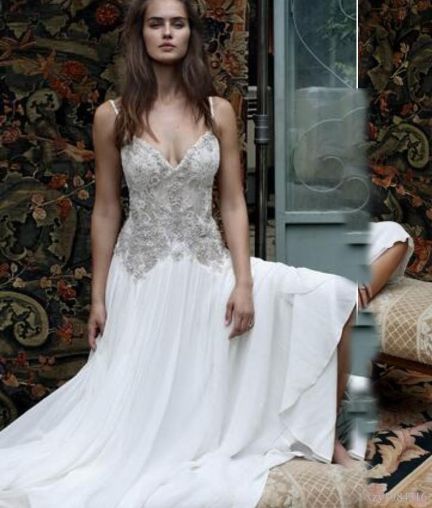 Thrifty Sleeves Plus Size Spaghetti Straps Font B Wedding B Font Dresses 2016 Bead Lace Appliques Sexy Custom Fairy Wedding Dress Up Games Fairy Wedding Dress