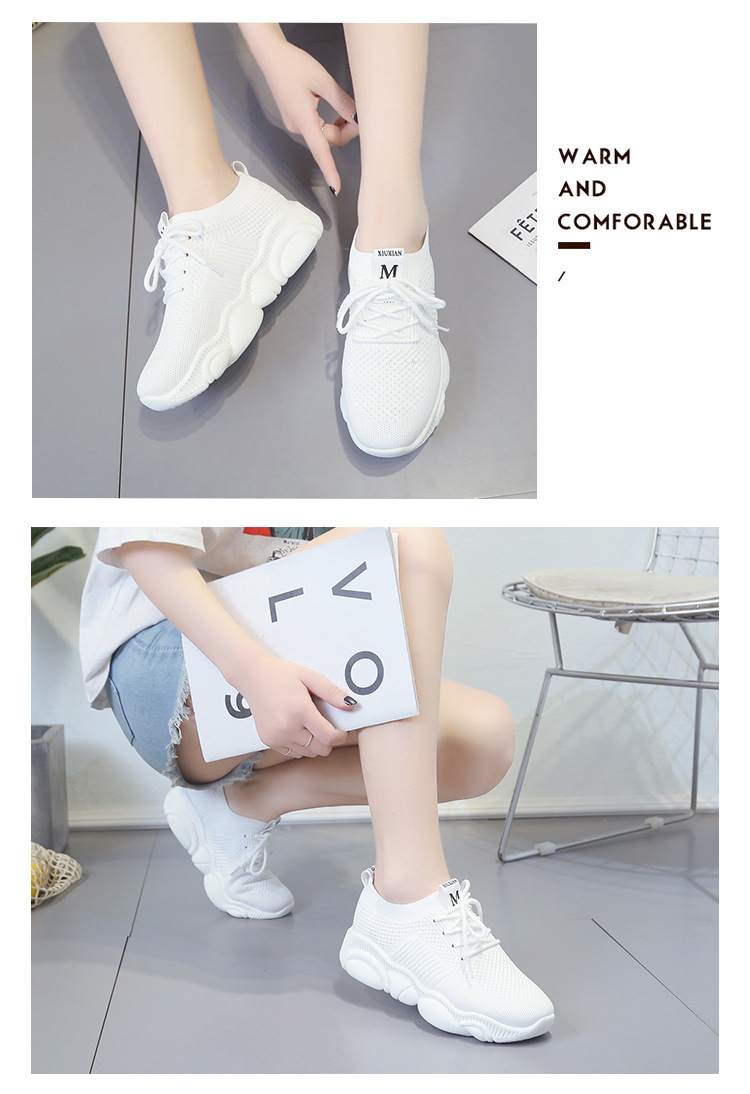 Breathable Women Casual Shoes Summer Lace Up White Platform Sneakers Fashion Soft Walking Flat Women Vulcanize Shoes New VT220 (5)