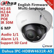 DAHUA IPC HDBW4631R AS 6MP IP IK10 IP67 IR30M Tích Hợp Thẻ Nhớ SD Card Âm Thanh Và Báo Động Giao Diện HDBW4631R AS Camera POE