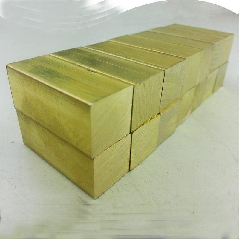 The knife handle hand material brass ingot 50*30*10mm Brass block
