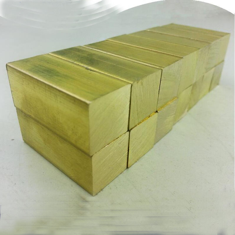 The knife handle hand material brass ingot 50*30*10mm Brass block