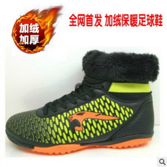 Kids Soccer Shoes 2017 New High Ankle Soccer Cleats Winter Sneaker Shoes For Boy And Girl Fashion High Quality China Shopping