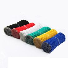 100pcs/lot 10cm 100mm 24AWG Colors Double Tinned Tin Plated Electronic Copper Wire Jumper Wire Cable Easy to Welding(China)