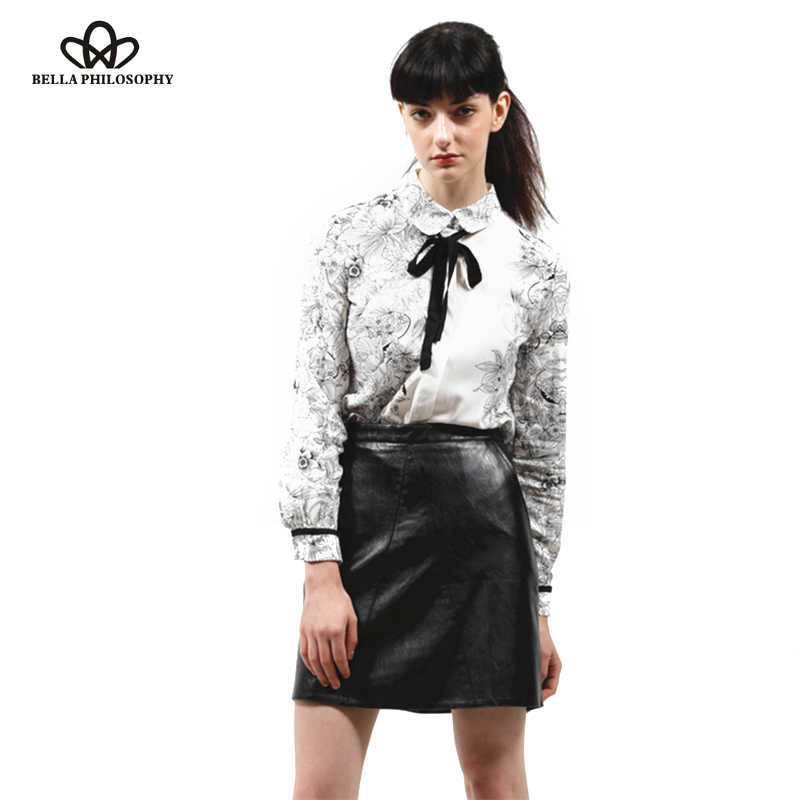8380a1011645d2 ... Bella Philosophy women basic PU leather skirt shiny zipper faldas  European style ladies brief chic mini ...